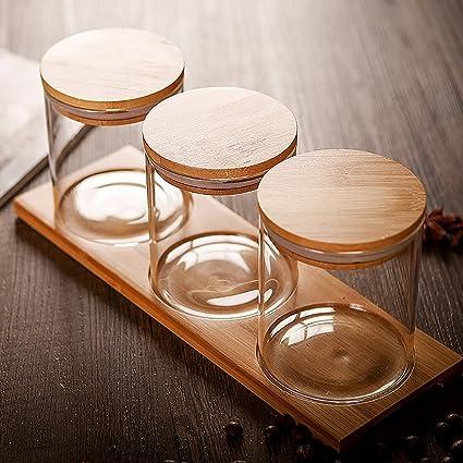 Saleros y pimenteros Caja de condimento Cocina Vidrio Condimento Contenedor Botellas de condimento Jarra de especias
