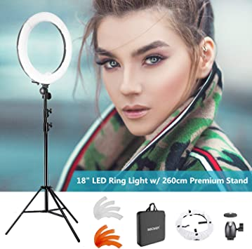 Cradle Head YouTube Video Portraiture Ring Light 12 inches Outer YouTube Light 180 Dimmable Lighting Kit with 1.9M Light Stand Makeup Phone Holder for Video Shooting