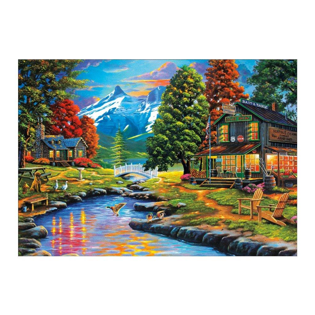 Yuly Village Cross Stitch Home Decor Kit 5D Diamond Embroidery Painting DIY Painting HOT(30cmx40cm)