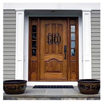 18u0026quot; Tall Black Vine Monogram Initials For Door Personalized Sign Thick  Aluminum Door Hanger Wall