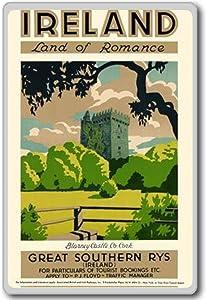 Land Of Romance, Ireland, Europe vintage travel fridge magnet
