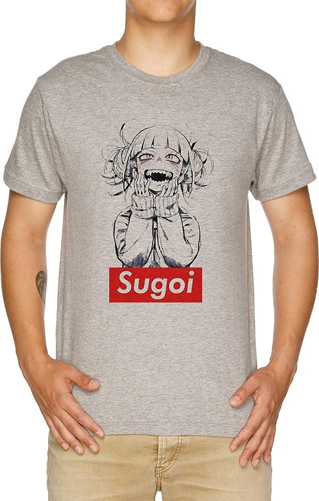 Vendax Sugoi himiko - Boku No Hero Academia Camiseta Hombre Gris: Amazon.es: Ropa y accesorios
