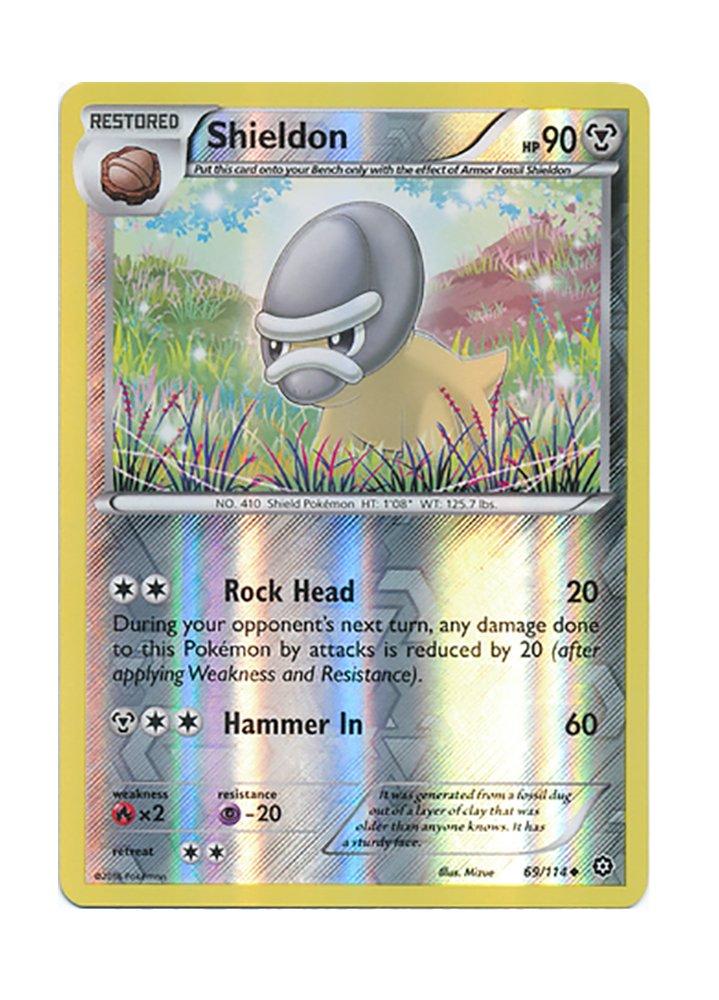 SHIELDON 69/114 REVERSE HOLO Losse kaarten POKEMON XY STEAM SIEGE CARD