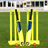 FORTRESS Backyard Cricket Set | Kwik Cricket Set - Bats, Balls Stumps & Bag | Premium Cricket Bat & Balls for Kids…