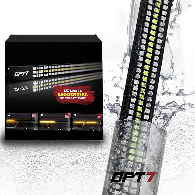 """OPT7 60"""" Redline Triple LED Tailgate Light Bar}"""