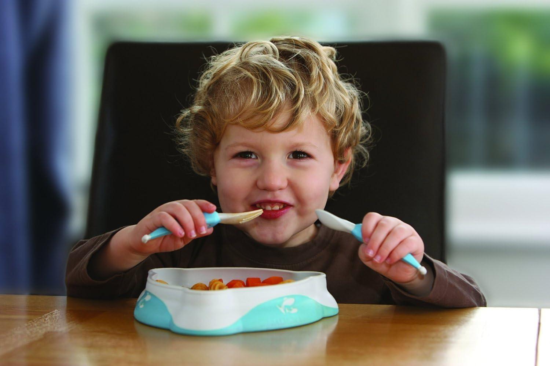 /Me Feed Me de salm/ón Luke azul azul Ni/ños Peque/ños Cubiertos de entrenamiento con Gratis aut/ónoma comer Guide/