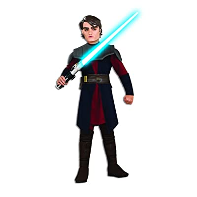 Rubies Star Wars Clone Wars Child's Deluxe Anakin Skywalker Costume and Mask, Large: Clothing
