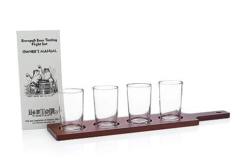 Amazoncom Brewpub Beer Tasting Flight Set With Paddle And 4 Mini