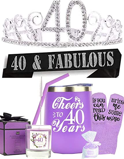 40th  birthday gifts for women 40 and fabulous gift Fortieth birthday 40 woman birthday gift Birthday tote bag 40 birthday gift ideas