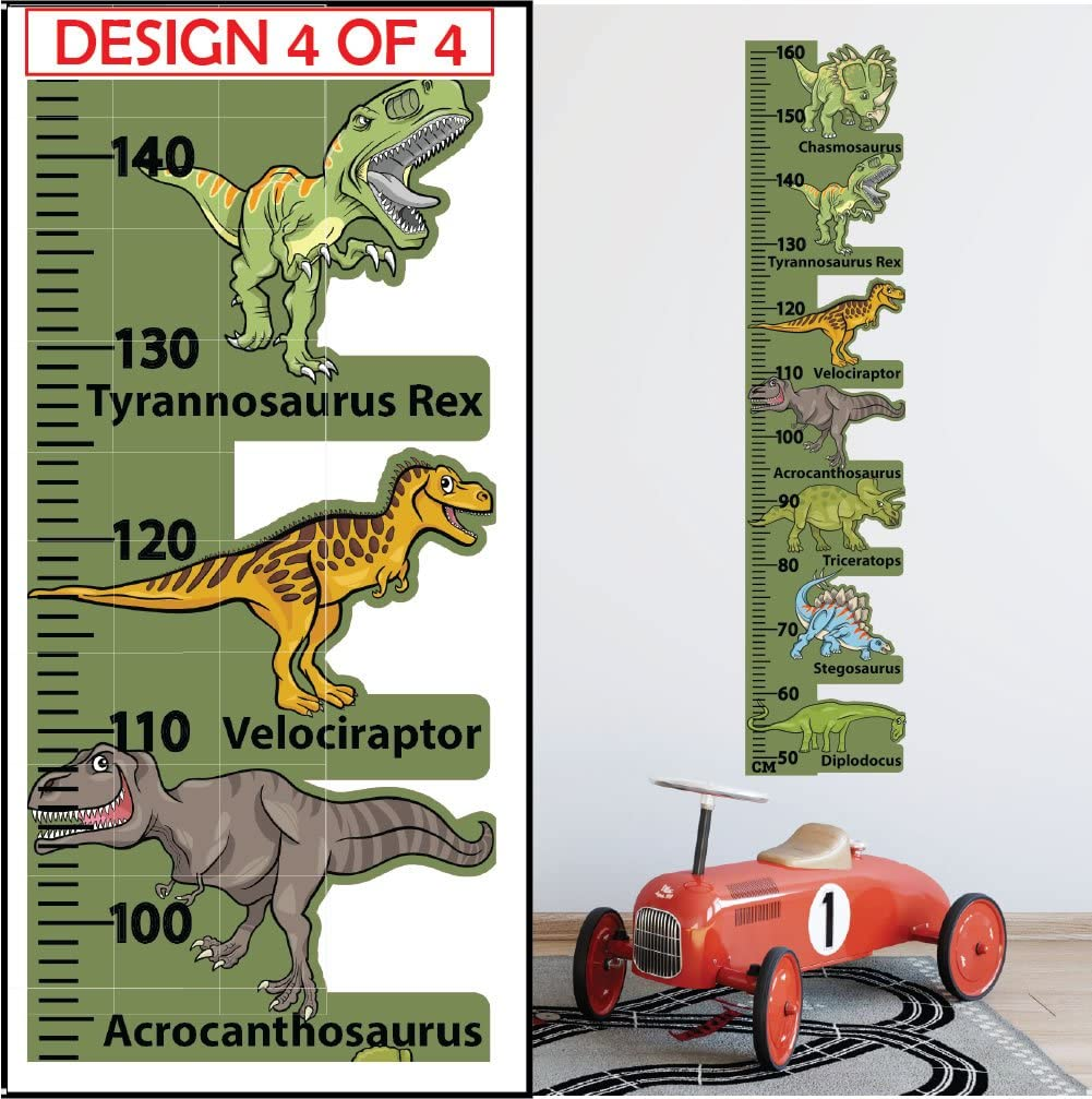 Dinosaur Height Chart Wall Sticker Kids Room Children Nursery Growth Measuring Ruler Perfect Present Birthday Gift for 5 6 7 8 Year Old Boys StickersMagic 100/% REMOVABLE Decal