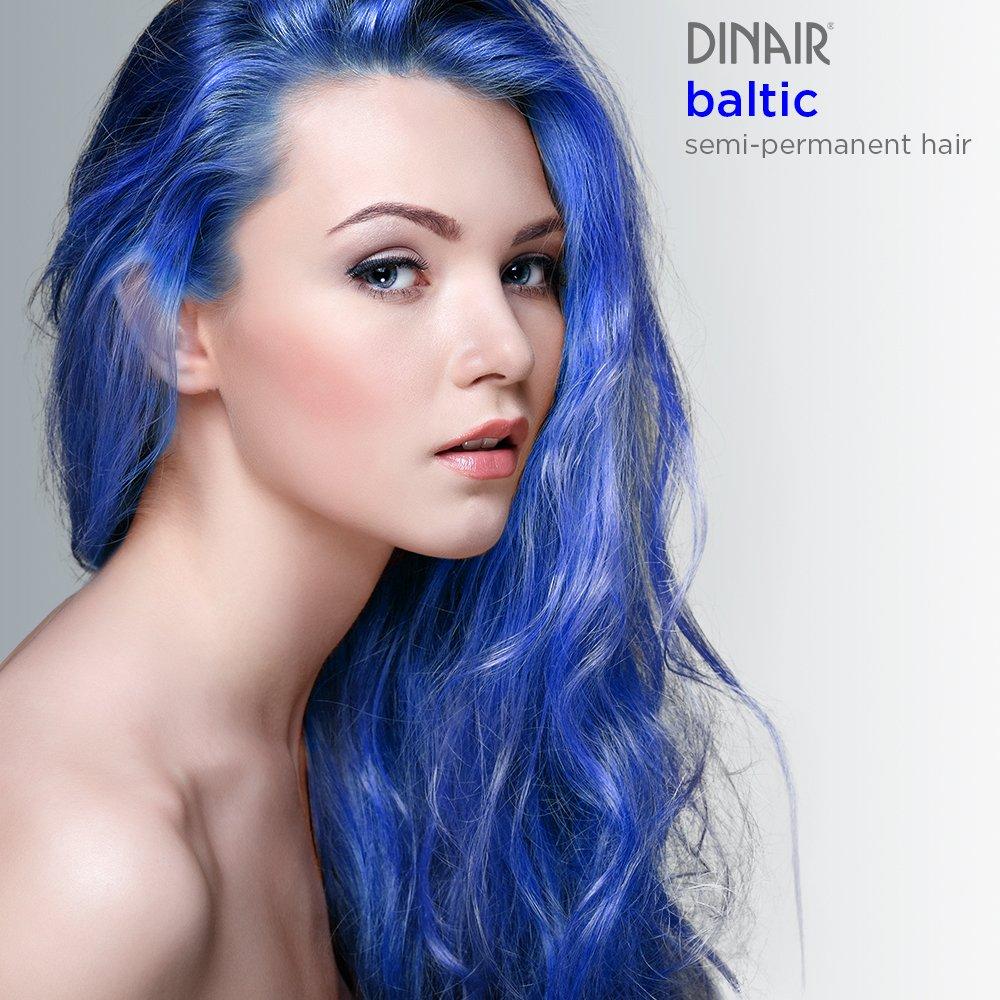 Dinair Airbrush Semi Permanent Hair Color Baltic Navy Blue 2 Oz