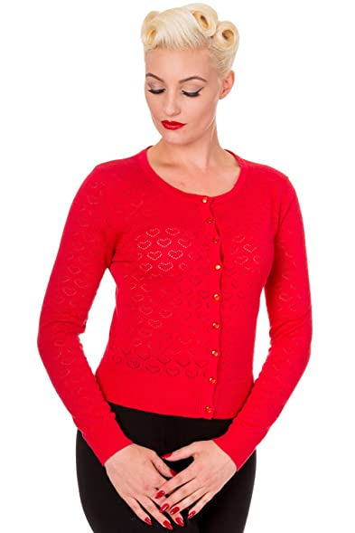 Banned Women's Up & Away Poppy Red Cardigan - Small
