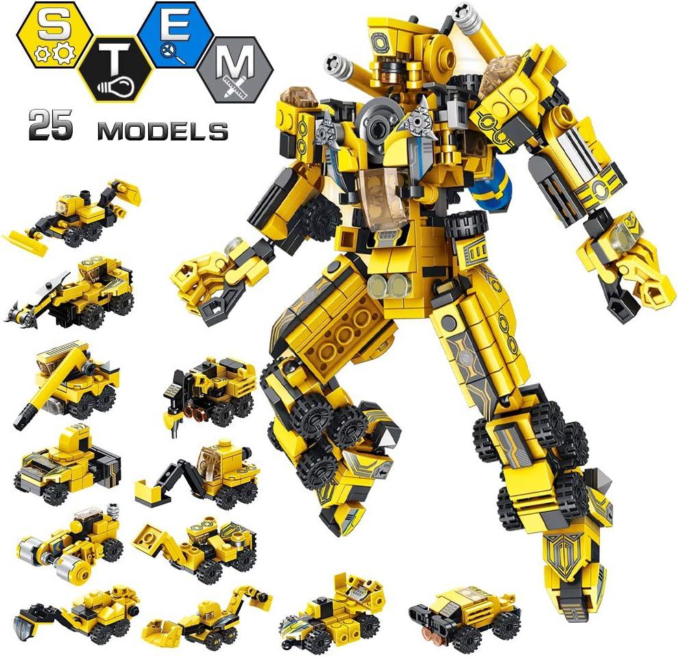 VATOS Robot Stem Juguetes de Construcción 12-in-1 573 PCS Educativo Ingeniería Bloques Aprendizaje Kit de Juguetes Diversión Creativa Mejor Regalo de Juguete para Niños de 6 años o más Niños y Niñas