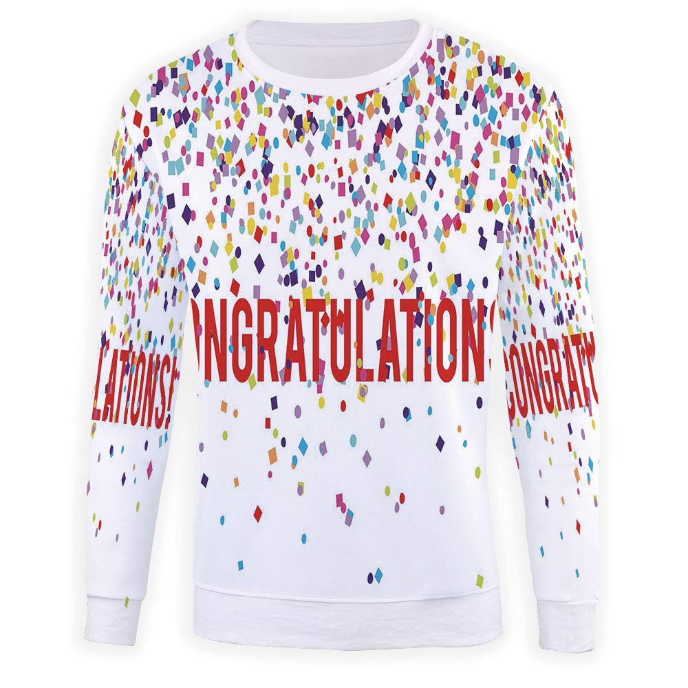 MOOCOM Mens Graduation Decor Sweatshirt Pullover