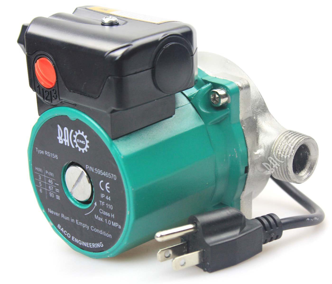 BACOENG 3/4'' 110V NPT Hot Water Circulation Pump Circulating Pump For Solar Heater Circulator US Plug