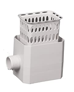 Flex-Drain 37042 Catch-A-Raindrop Rainwater Colander Kit, 2 x 3-Inch, White