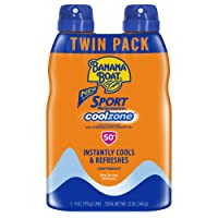 Banana Boat Banana boat sport performance coolzone sunscreen spray, spf50, 6 ounce - twin pack, 2 Count