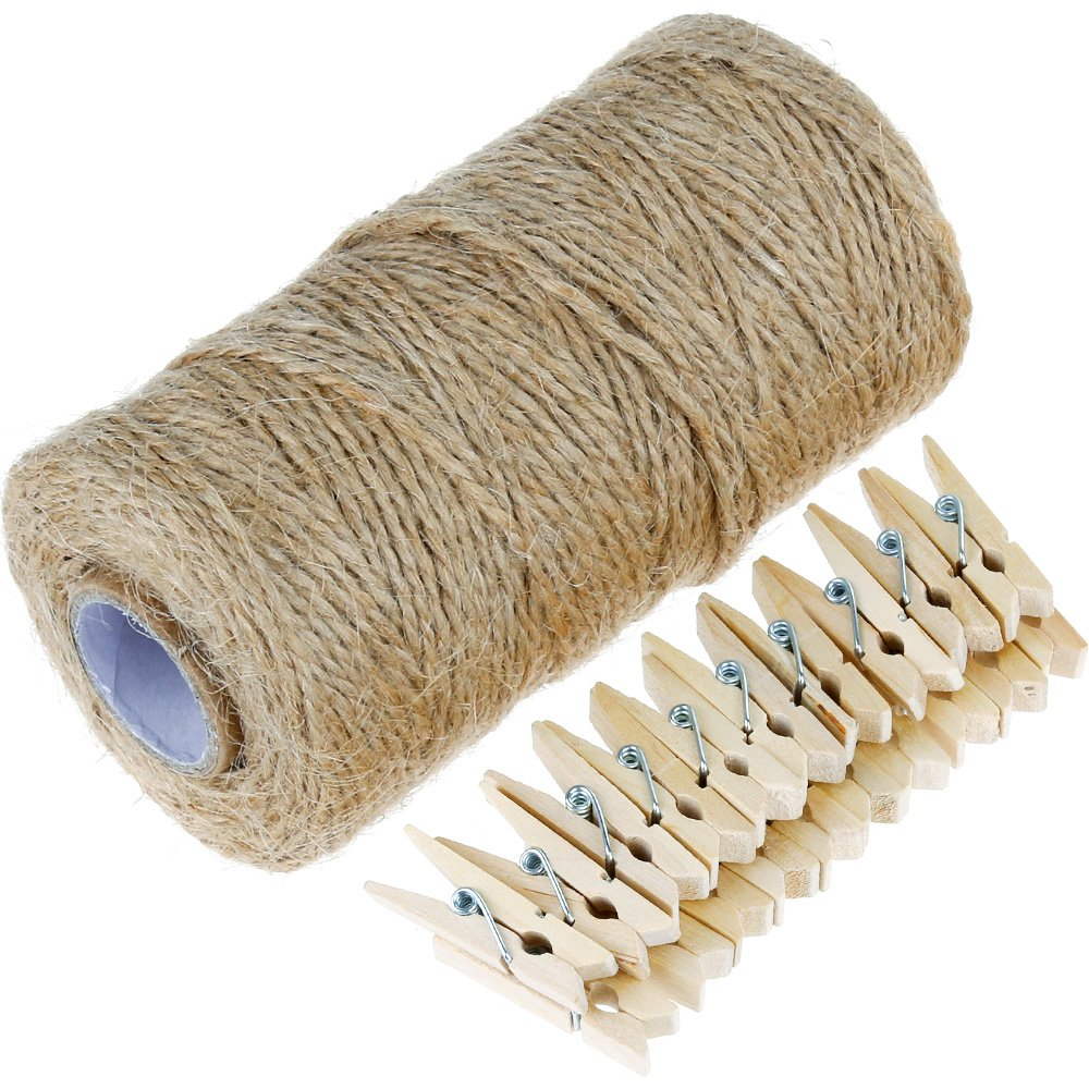 jute twine and clothepins for Game Day banner for Football Party by BellaGrey Designs