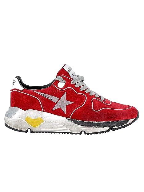 Golden Goose Mujer G34WS963A4 Rojo Gamuza Zapatillas: Amazon.es: Zapatos y complementos