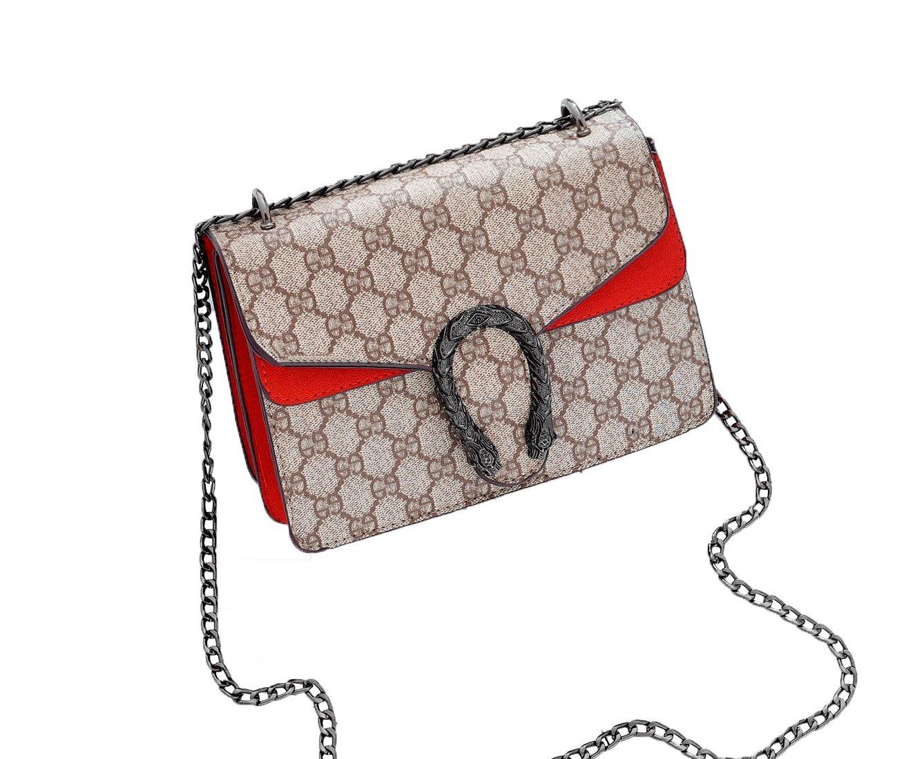 Cross-body Bag for Womens Handbag Single Printing Shoulder Bag Purse Messenger Bags (Wine)