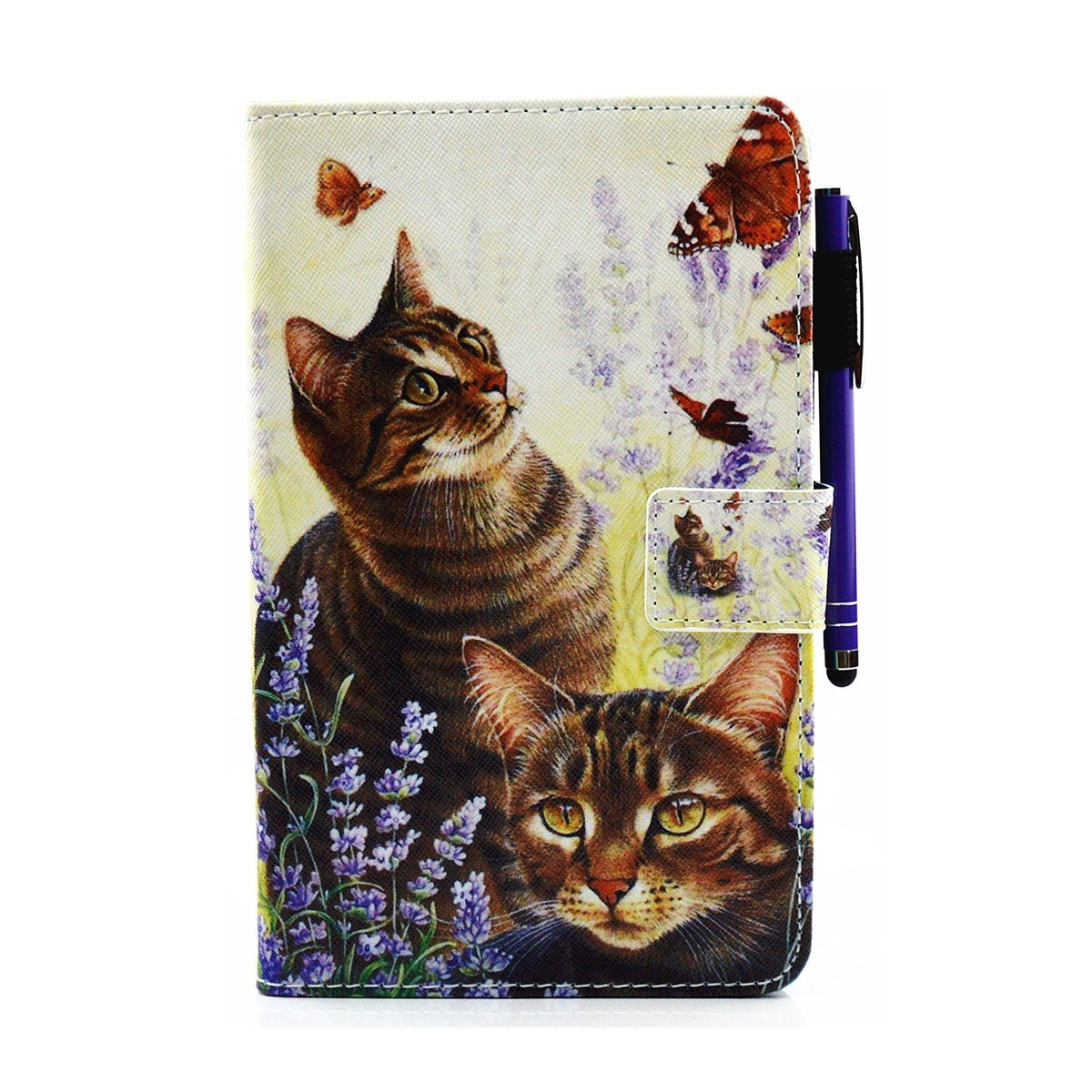 inShang T230 Case for Samsung Galaxy TAB 4 7.0 Inch T 230, With Color Painting Pattern, Stand Cover + 1pc stylus Pen