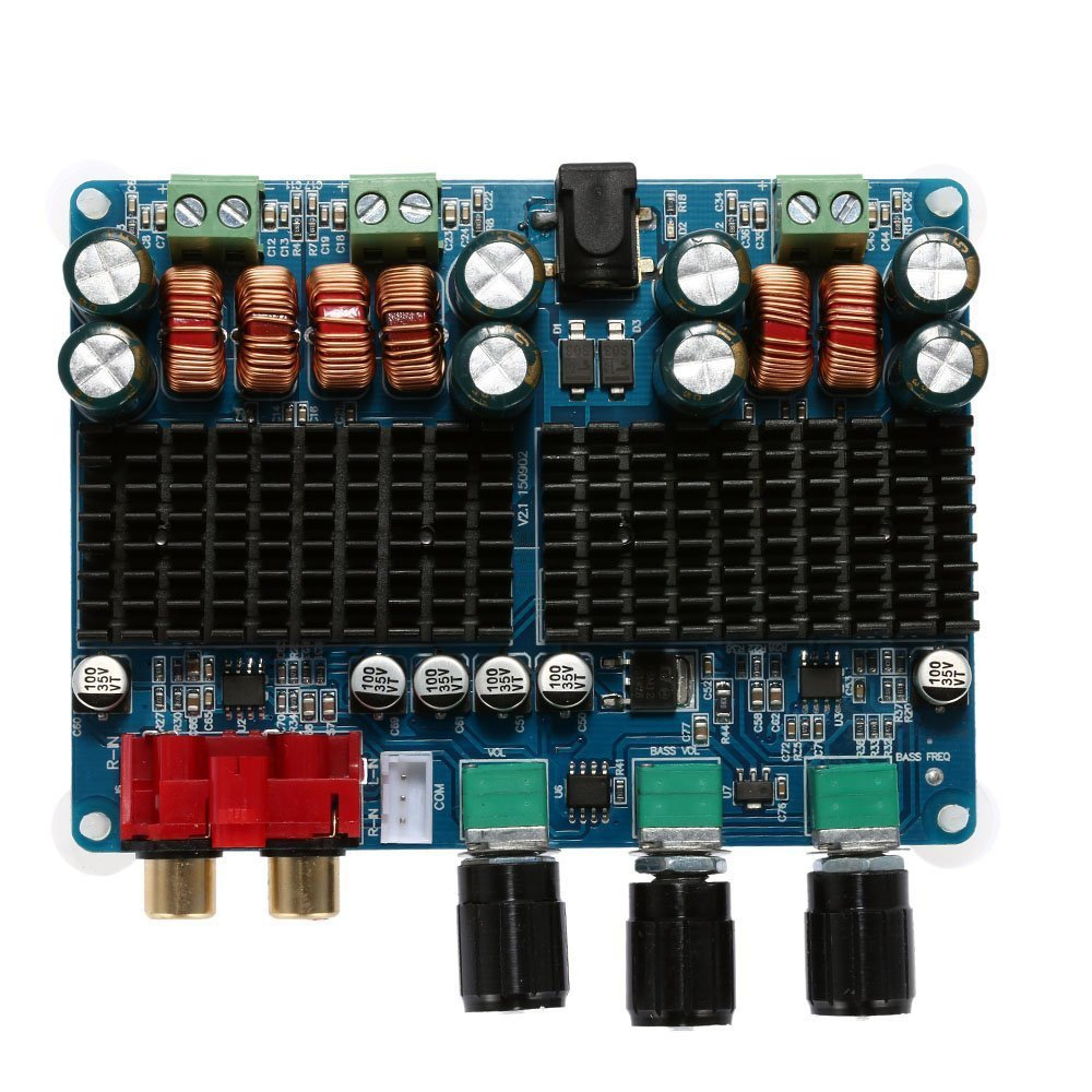 Wingoneer Tpa3116 2x50w 100w 21 Dual Channel Power 12v Subwoofer Amplifier Circuit Digital Board Dc 26v Electronics