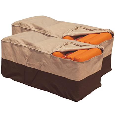Quality 2 Pc Outdoor Waterproof Patio Cushion Storage Bag Protect Cover