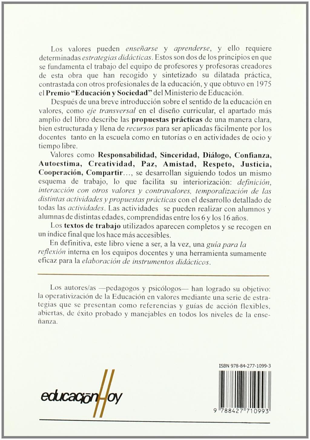 Cómo educar en valores: Materiales, textos, recursos, técnicas Educación Hoy: Amazon.es: Llorénç Carreras i Sureda: Libros
