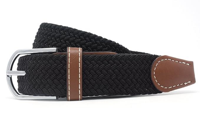 Jeracol Elastica Cintura uomo cinghia intrecciata pelle flessibile  quotidiano Cintura fibbia in metallo  Amazon.it  Abbigliamento a352a236f6c