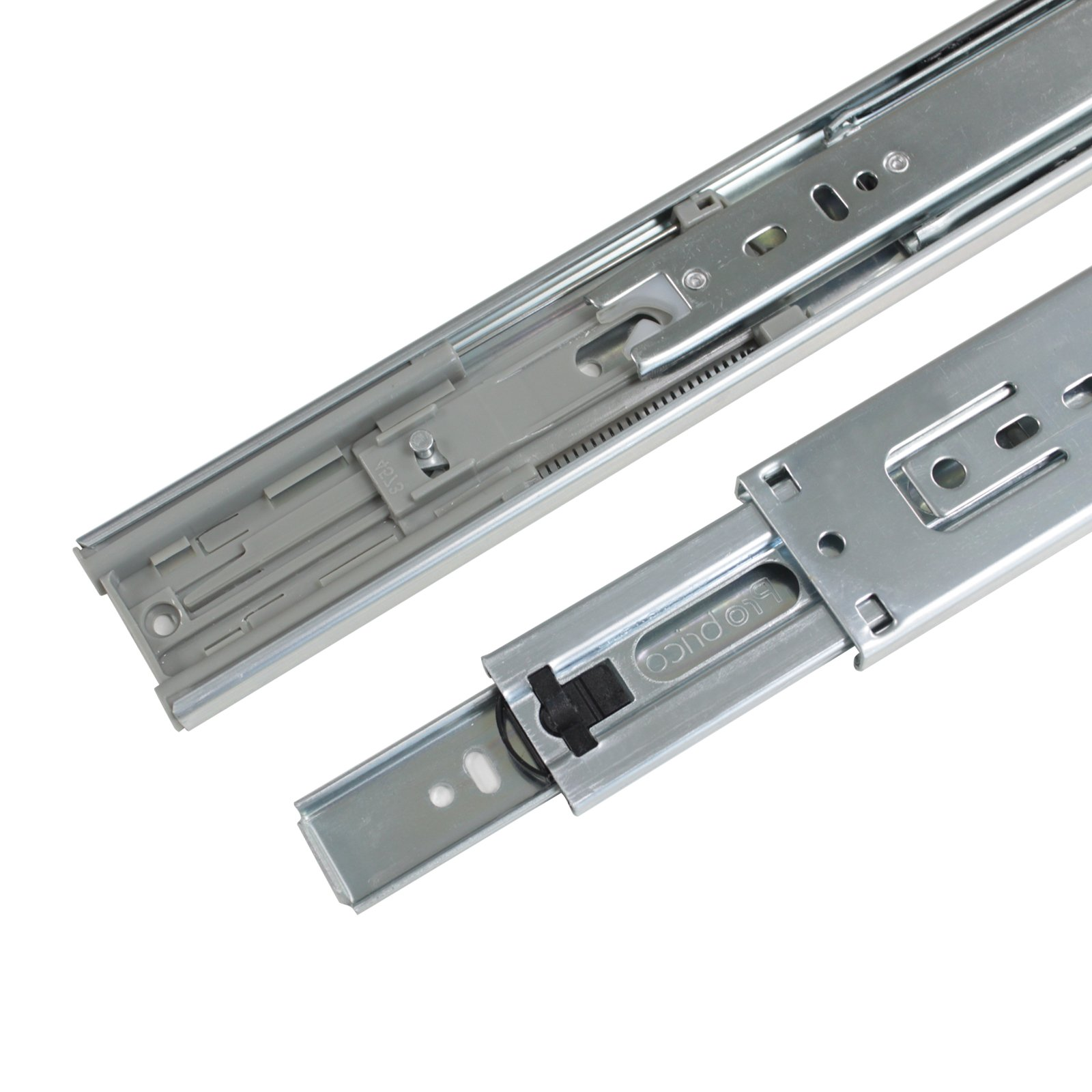 22-Inch Heavy Duty Full Extension Ball Bearing Drawer Slides Soft Close Rail Runners 6Pair(12 Pieces) by Gobrico (Image #4)
