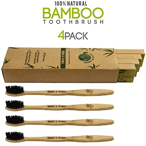 Batik Natural Bamboo Cepillo de dientes Eco-friendly Charcoal Infused Cerdas 100% orgánico y
