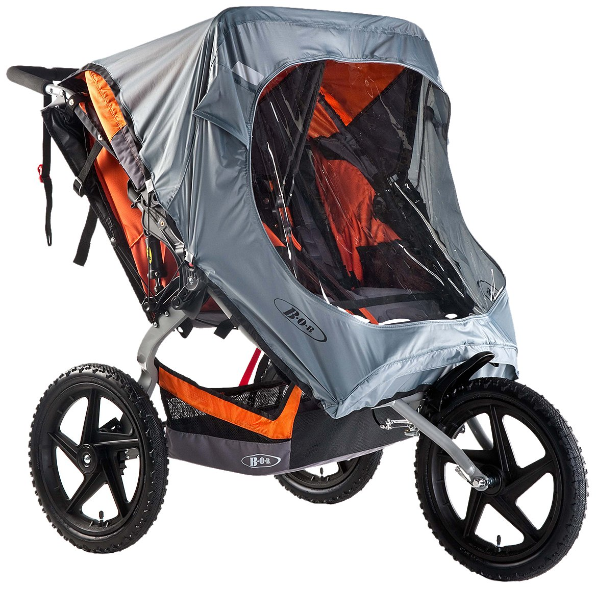 BOB Weather Shield for Pre-2016 Duallie Fixed Wheel Strollers, Grey