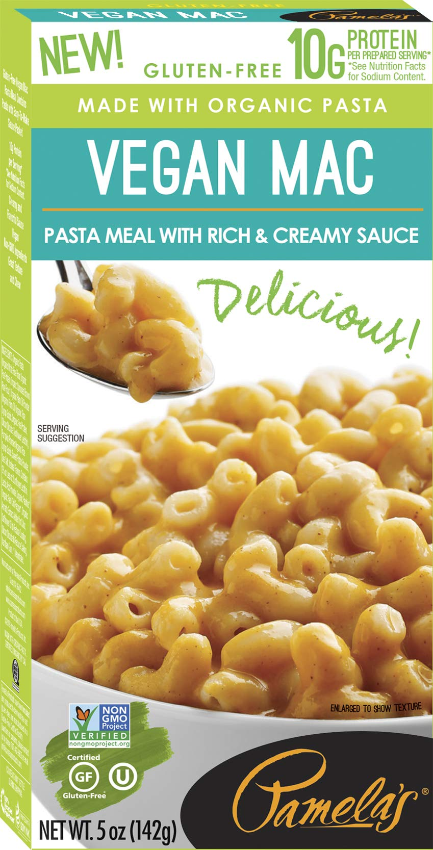 Pamela's Products Gourmet Gluten Free High Protein Pasta Meal, Vegan Mac & Cheese, 12 Count by Pamela's Products