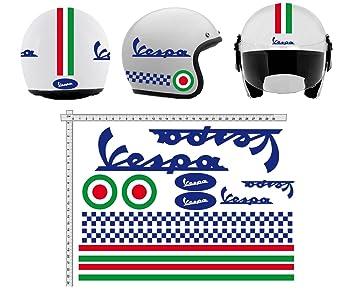 Pegatinas CASCO Kit casco VESPA BLU AZUL ITALIA vinilo VINY PULIDO para su computadora portátil,