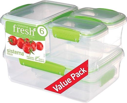 Sistema Recipientes para Comida Fresca, plástico, Clear/Green ...