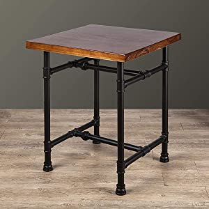 24 Inch Industrial Rustic Iron Pipe Entry Table, End Table, Coffee Table, Side Table, Metal Legs, Bar Table/Home Set/Living Room Set/Dining Room