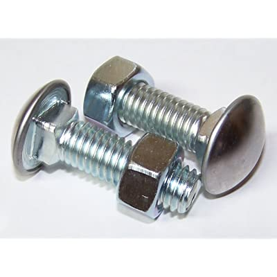 """au-ve-co PRODUCTS 10 Qty-7/16-14 X 1-1/2"""" S.S. Capped Round Head Bumper Bolt with Hex Nut(3100): Automotive"""