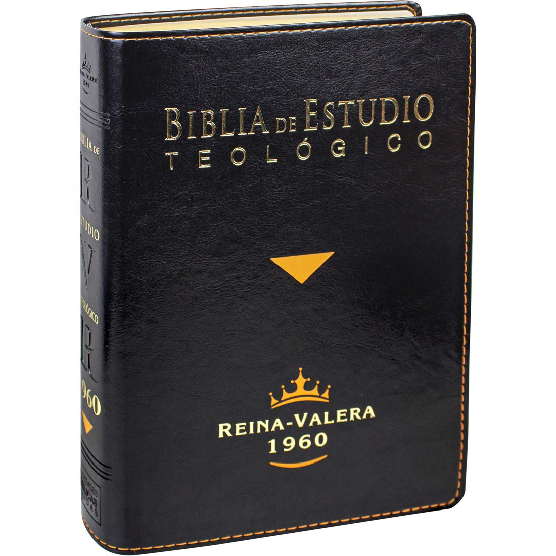 Biblia De Estudio Teológico Reina Valera 1960 Piel Fabricada Negro Con Index Spanish Edition 7899938410950 Reina Valera 1960 United Bible Societies Books