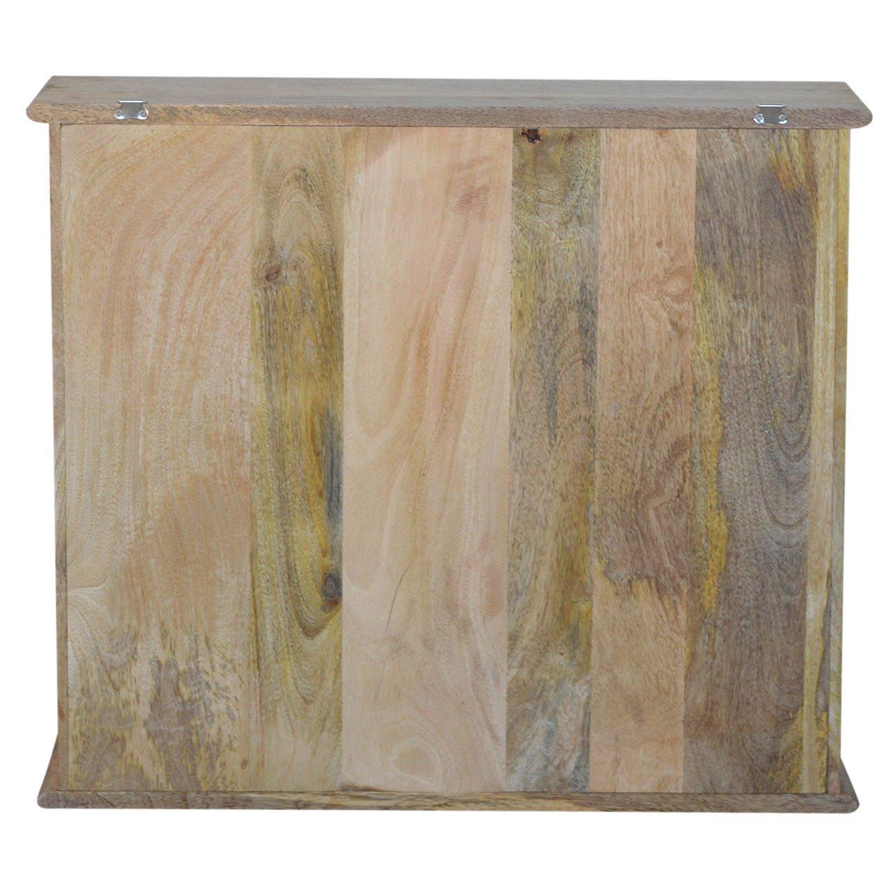 Artisan Furniture Hook /& Hide Wall Mounted Unit Wood Natural Oak//Ish Finish