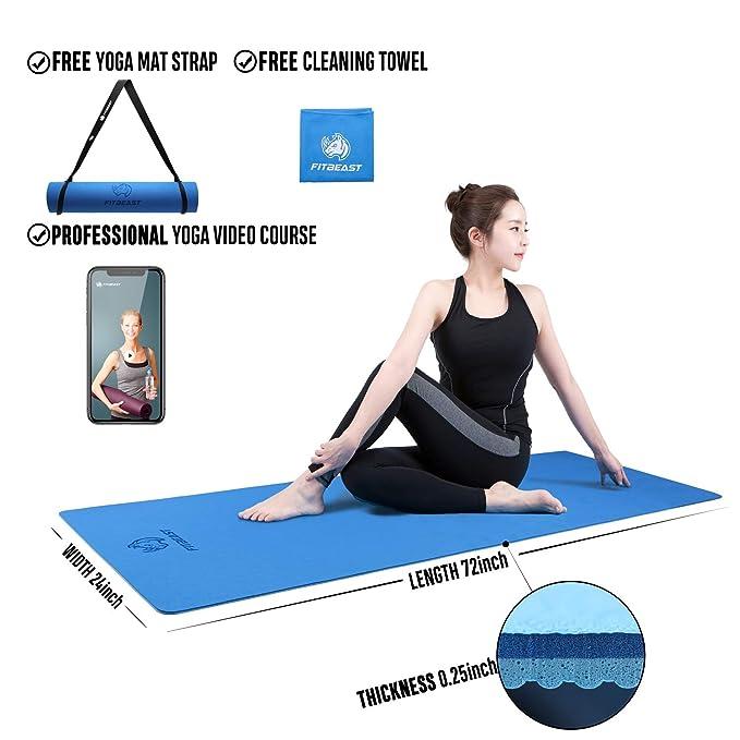 FitBeast Colchoneta de Yoga Colchoneta de Ejercicios (Azul ...