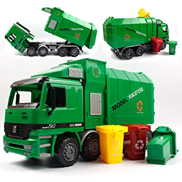 Shandp Children Garbage Truck Kids Toys Inertia Sanitation Truck With Garbage... Sonstige