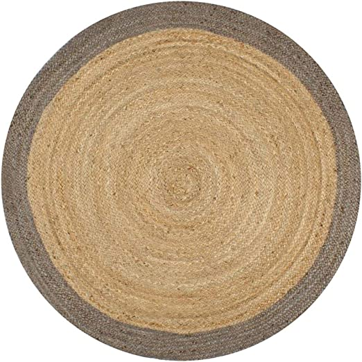 SOULONG Alfombra de Yute Redonda - Trenzada con Una Mezcla de Algodón y Yute 150 cm Artículo Decorativo para el Hogar: Amazon.es: Hogar