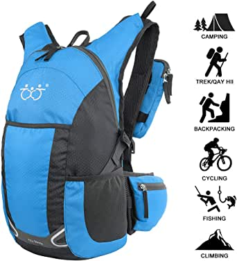 Outdoor Riding Backpack CampingTravelling Vackpack Sports Daypack Running Hiking Cycling Bag(5Colors) (Blue)