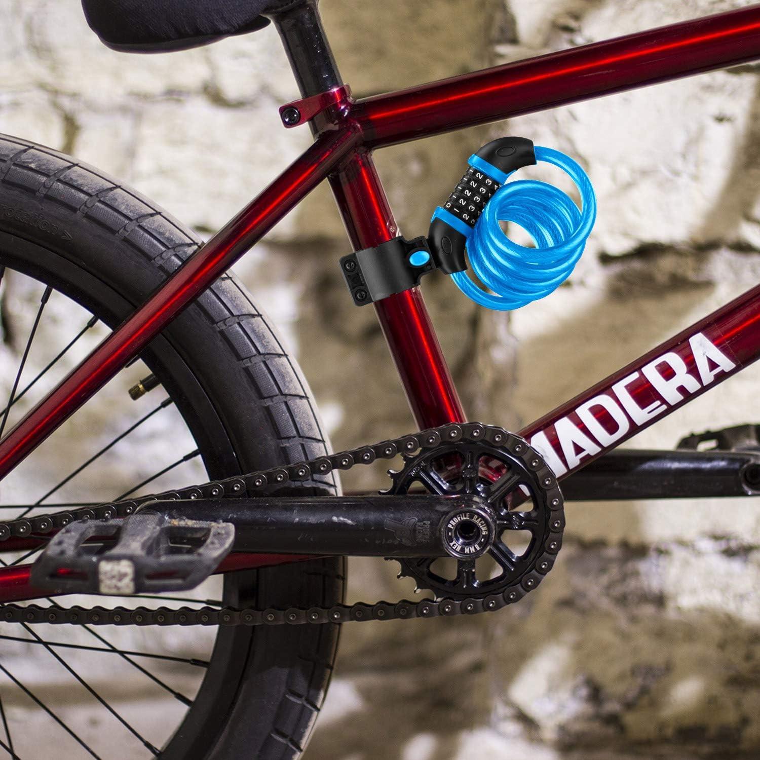 Opaza Candado de Bicicleta, Seguridad Candado de Cable Mejor ...