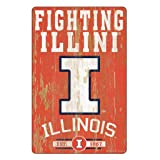 WinCraft NCAA Illinois Illini 11x17 Wood Sign, Team Color, One Size