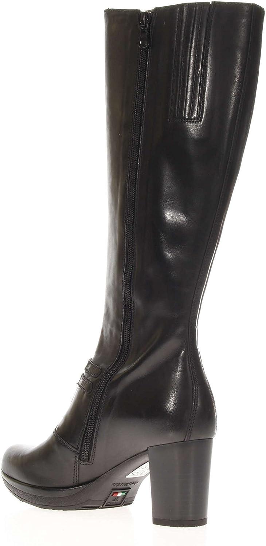 Nero Giardini A616412D-100 Bottes Femme avec talon 7cm Noir