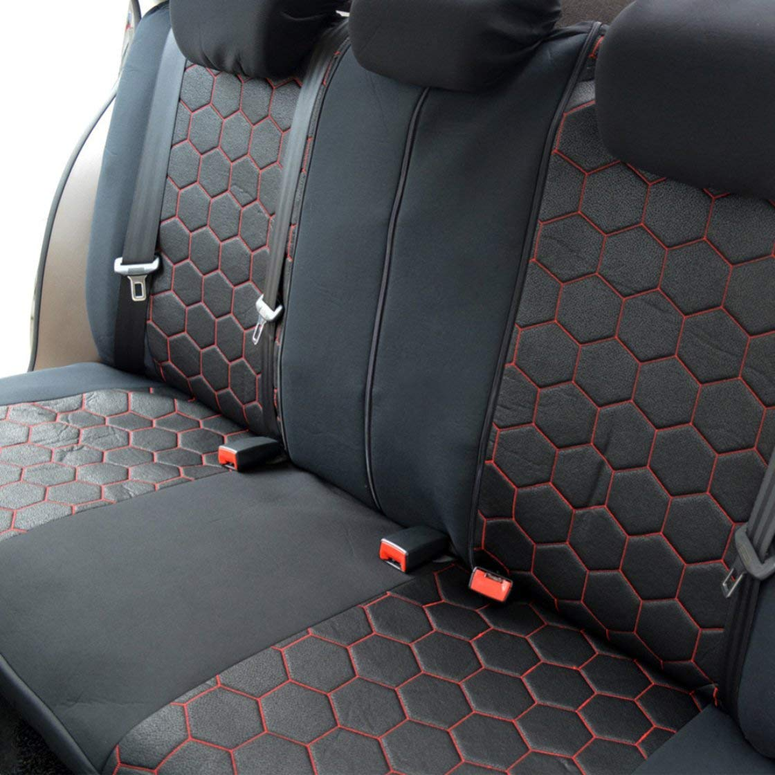 Poliestere 800g poggiatesta rimovibili Hexagon Style Auto Accessori per auto Interni Coprisedili e supporto Universale Fit Molti veicoli