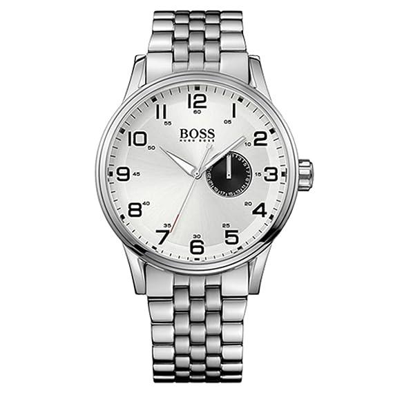 c0f734467520 Hugo Boss 1512791 - Reloj analógico de cuarzo para hombre con correa de  acero inoxidable