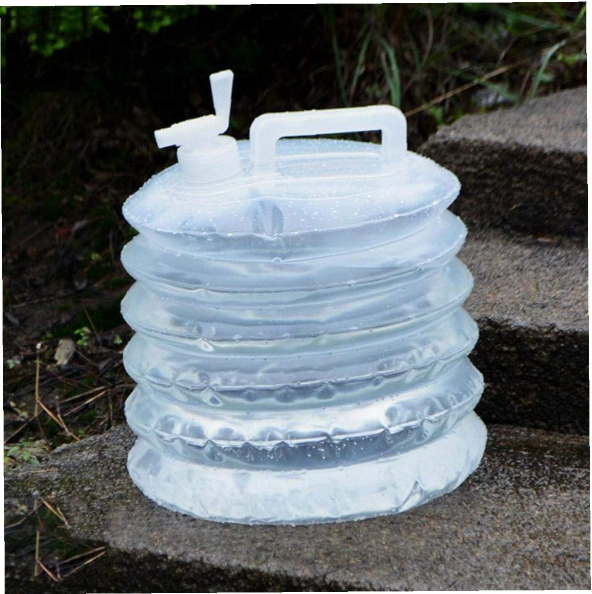 10l Collapsible Water Buckets Plastic Bottles with Tap Car Water Carrier Container for Camping Picnic Container Tool White for Sportrs