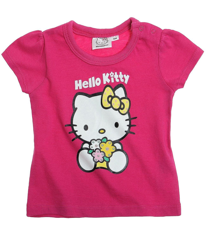 Hello Kitty Babies Short Sleeve T-Shirt - fuchsia